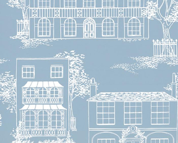 Little Greene Hampstead James Blue 0273HAJAMES Wallpaper
