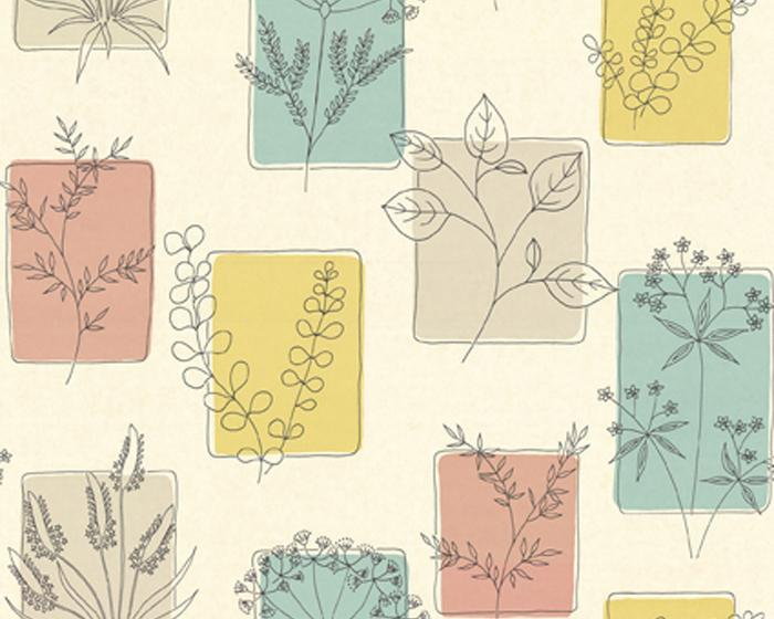 Little Greene Herbes Cocktail 0273HRCOCKT Wallpaper