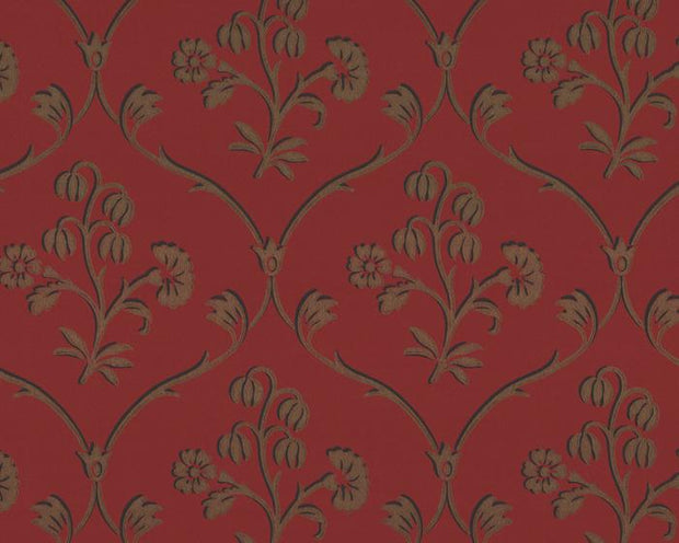 Little Greene Cranford Cherry Gold 0280CFCHERR Wallpaper