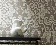Zoffany Marmorino Harbour Grey 312034 Wallpaper