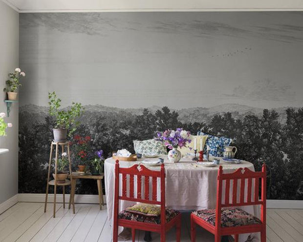 Sandberg Oak View Graphite 658-31 Wallpaper