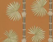 Paint & Paper Library Hardy Palm Burnt Orange Wallpaper