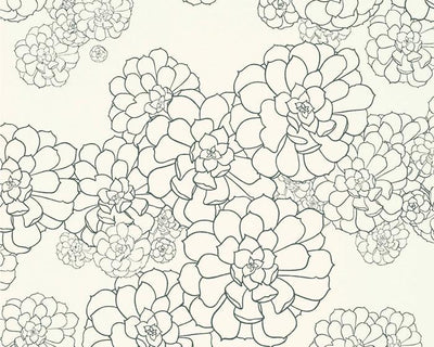 Paint & Paper Library Aeonium Clean White PPAECW Wallpaper