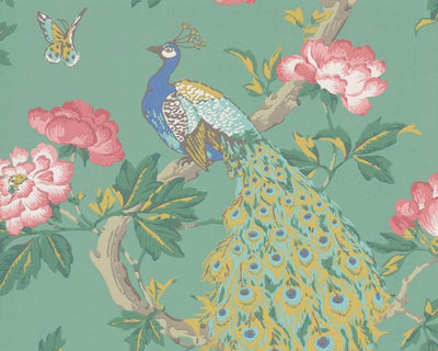 Little Greene Pavona Vivienne 0293ASISLAN Wallpaper