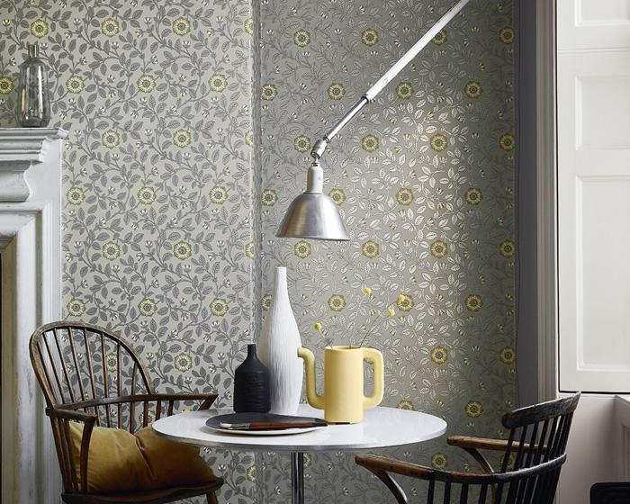 Little Greene Richmond Green Guinevere 0251RGDORCA Wallpaper