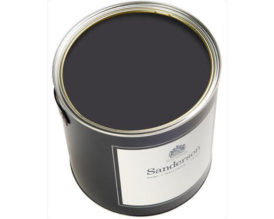 Sanderson Water Based Eggshell Burn Black Lt Paint