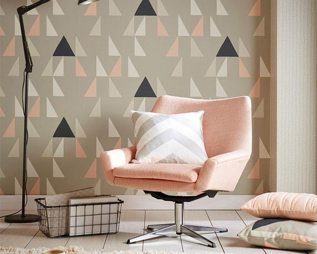 Scion Modul Mustard/Pewter/Cinnamon 111306 Wallpaper