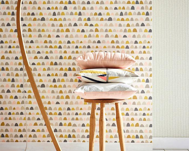 Scion Priya Mist/Pear/Pewter 111296 Wallpaper