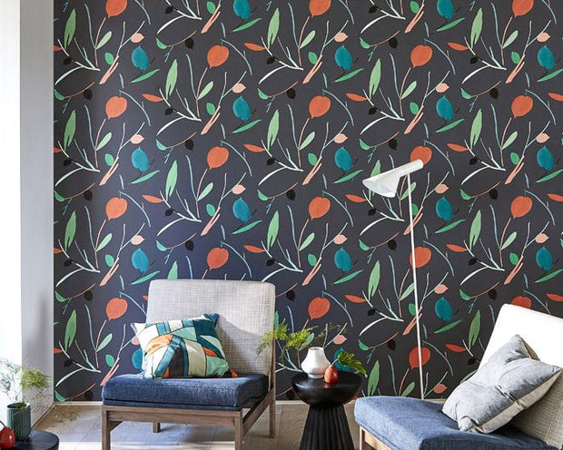Scion Oxalis Spice/Raffia 111996 Wallpaper
