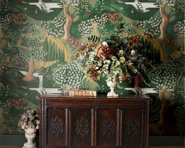 Zoffany Verdure Lead Blue 310430 Wallpaper