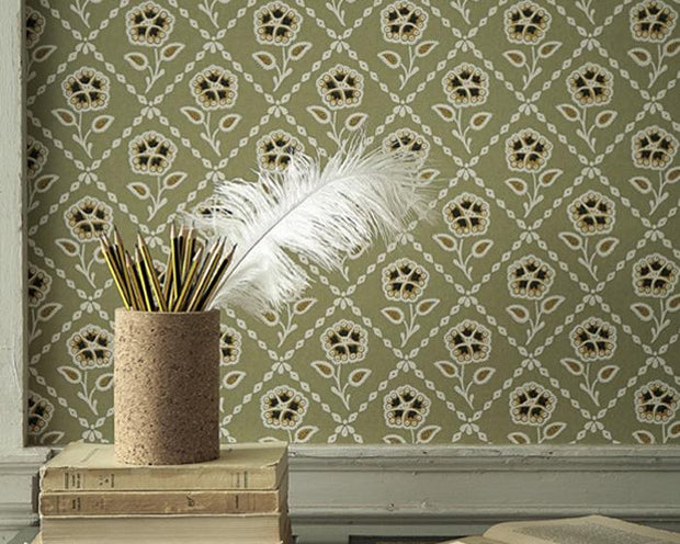 Little Greene Whitehall Prussian 0248WHPRUSS Wallpaper