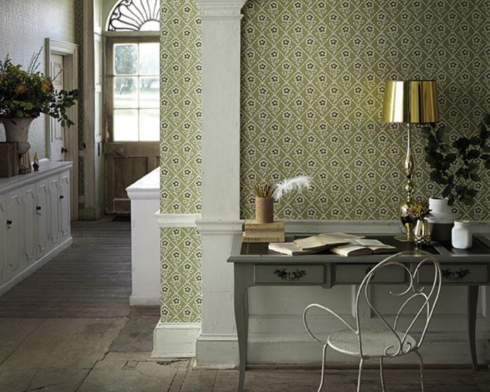 Little Greene Whitehall Pebble 0248WHPEBBL Wallpaper