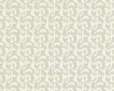 Zoffany Tumbling Blocks Empire Grey 312891 Wallpaper