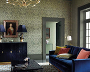 Zoffany Brocatello Logwood Grey 312678 Wallpaper