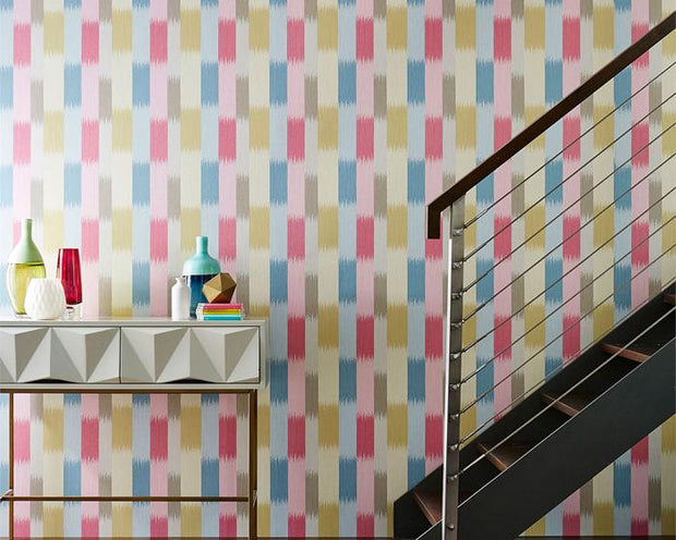 Harlequin Utto Mist/Fawn/Mulberry 111447 Wallpaper