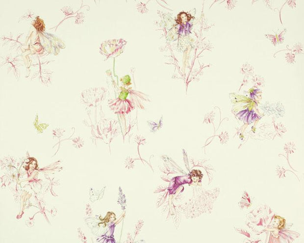 Jane Churchill Meadow Flower Fairies Cream J124W-01 Wallpaper