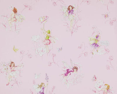 Jane Churchill Meadow Flower Fairies Pink J124W-02 Wallpaper