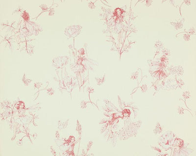 Jane Churchill Meadow Flower Fairies Pale Pink J124W-05 Wallpaper