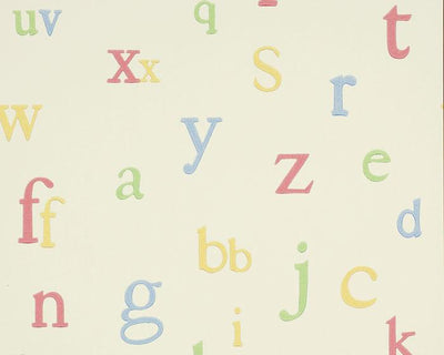 Jane Churchill Alphabet Multi J130W-04 Wallpaper