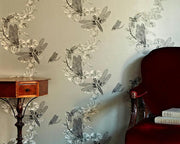 Barneby Gates Dragonfly in Pewter Wallpaper BG0600201