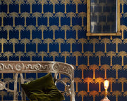 Barneby Gates Marrakech Palm in Midnight Blue Wallpaper BG1200101