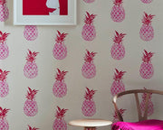 Barneby Gates Pineapple in Pink/Red on Cream Wallpaper BG1200201