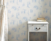 Barneby Gates Promenade in Wedgwood Blue Wallpaper BG0200201