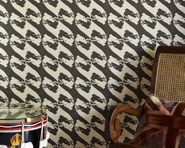 Barneby Gates The Dogs in Charcoal Wallpaper BG0700201