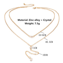 Load image into Gallery viewer, Multilayer Long Tassel Chain Necklace Sexy Body Jewelry Crystal Pendant Nec