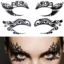 Load image into Gallery viewer, Temporary Eye Tattoo. Eyeshadow Eyeliner Face Sticker Halloween Makeup Tool