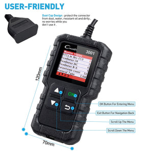 Scanner Code Reader  3001 OBDII/EOBD Car Diagnostic