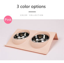 Load image into Gallery viewer, Double Pet Bowl S/Large Size
