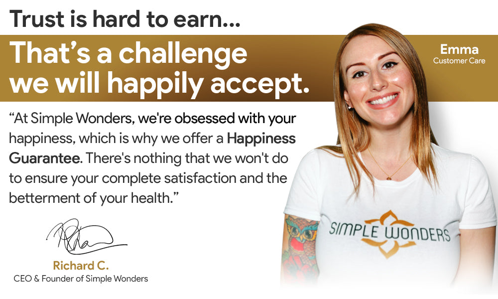 Customer Care Satisfaction Guaranteed - Simple Wonders