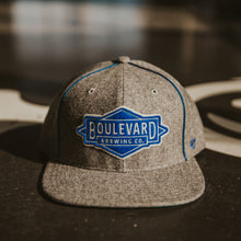 Load image into Gallery viewer, Gray wool hat with embroidered Boulevard Diamond logo patch.