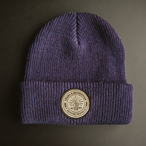 Tours & Rec Beanie - Navy FRONT