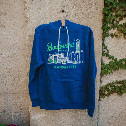Boulevard Brewing Co. Kansas City hoodie on hanger