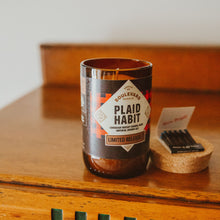 Load image into Gallery viewer, Plaid Habit Candle with Matches