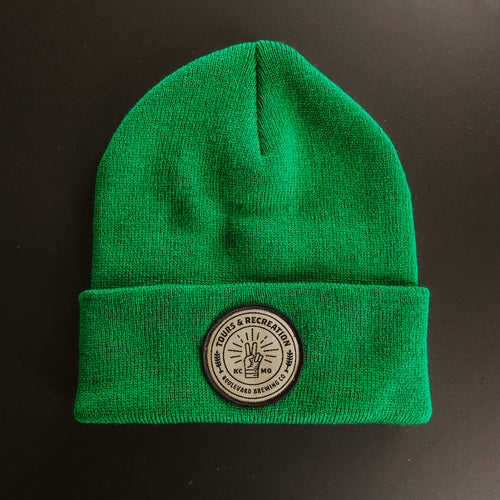 Tours & Rec Beanie - Green front
