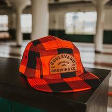 Load image into Gallery viewer, Arch Logo Plaid 5 Panel Cap Front