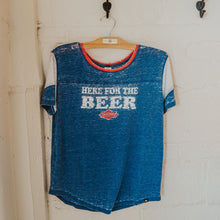 Load image into Gallery viewer, Women's Here for the Beer Fade Out Tee