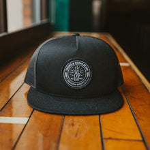 Load image into Gallery viewer, Tours & Rec Black Snapback Hat front