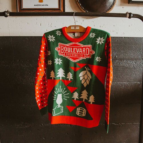 Front of ugly Holiday sweater