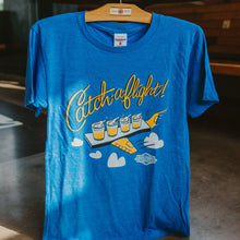 Load image into Gallery viewer, Charlie Hustle Boulevard Catch A Flight Tee Hanging