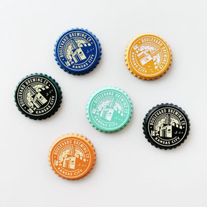 Bottle Cap Brewery Magnet White Background