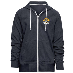 Navy Brewery Urban Full Zip Art Front