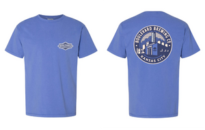 Classic Brewery Tee Blue Art Front and Back