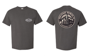 Classic Brewery Tee Gray Art Front and Back