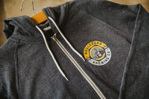 Navy Brewery Urban Full Zip Front Zoomed