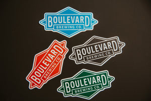 Four Boulevard Diamond logo sticker in different colors