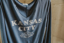 Load image into Gallery viewer, Women's Kansas City Gamma Long Sleeve Hanging Front Zoomed
